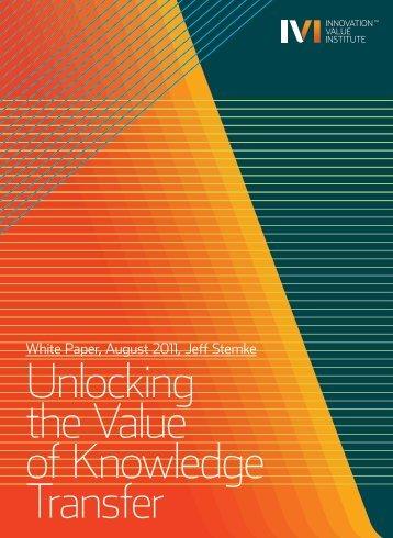 IVI - Innovation Value Institute - National University of Ireland ...