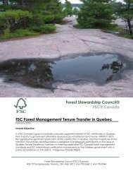 Quebec Tenure Transfer Process PDF, Size - Forest Stewardship ...