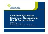 Cochrane Systematic Reviews of Occupational Health ... - Easom.org