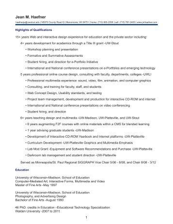 resume - jmhaefner.com