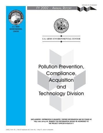pollution prevention/ compliance program - U.S. Army ...