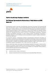 Raport z badania skonsolidowanego sprawozdania finansowego