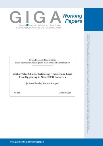 Global Value Chains, Technology Transfer and Local Firm ...