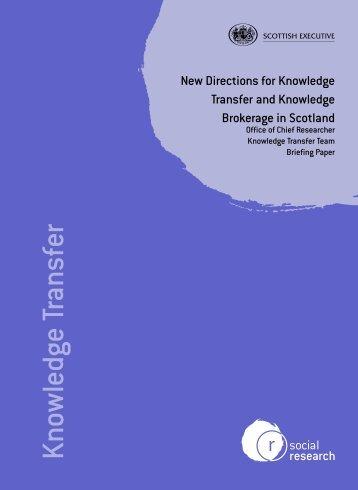 SR knowledge 2655 - Scottish Government