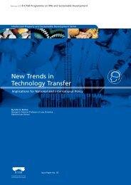 New Trends in Technology Transfer: Implications ... - IPRsonline.org