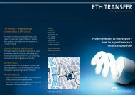 how to exploit research results successfully ETH TransfEr