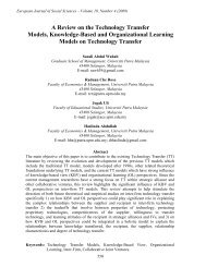 A Review on the Technology Transfer Models ... - EuroJournals