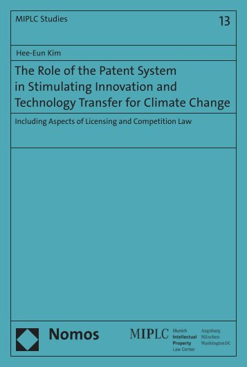 The Role of the Patent System in Stimulating ... - Zum Nomos-Shop