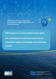 The contribution of web-based platforms for ... - Programme Med