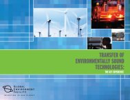 TRANSFER OF ENvIRONMENTALLY SOUND TECHNOLOGIES: