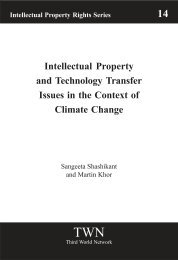 Intellectual Property and Technology Transfer Issues in the Context ...