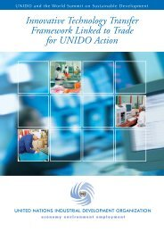 Innovative Technology Transfer Framework Linked to Trade for - Unido