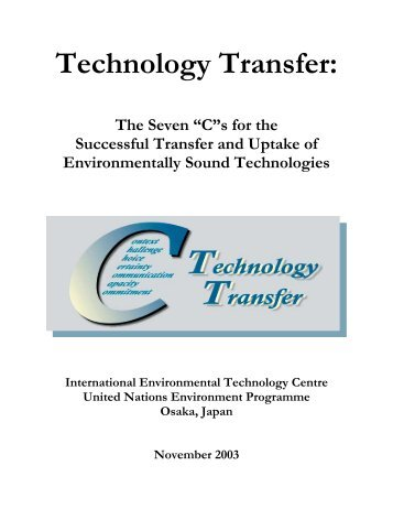 Technology Transfer - International Environmental Technology Centre