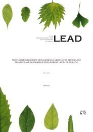 LEAD-journal.org - The CDM as a Vehicle for Technology Transfer ...