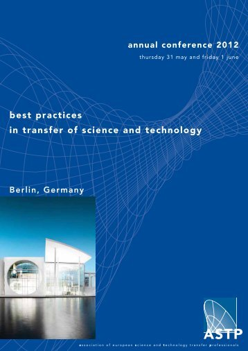 best practices in transfer of science and technology - ASTP