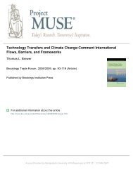 Technology Transfers and Climate Change:Comment ... - BUP