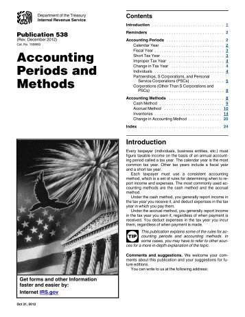 Publication 538 (Rev. December 2012) - Internal Revenue Service