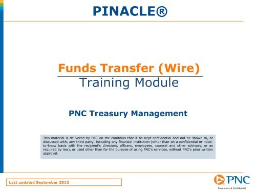 Funds Transfer Wire