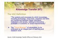 Knowledge Transfer (KT) - Department of Systems Engineering and ...