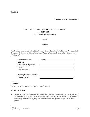 Wcaxxxx exhibit b sample contract fy xx xx agreement for for B b contract