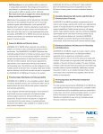 UNIVERGE 3C for MB/SE Brochure - NEC Corporation of America - Page 4