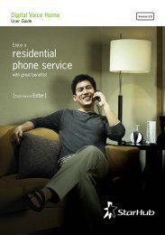 residential phone service - StarHub
