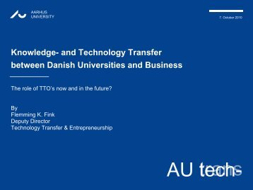 and Technology Transfer between Danish ... - vh.mysupport.dk