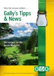 Tipps & News Sommer 2011 (pdf) - Gally Versicherungsmakler GmbH