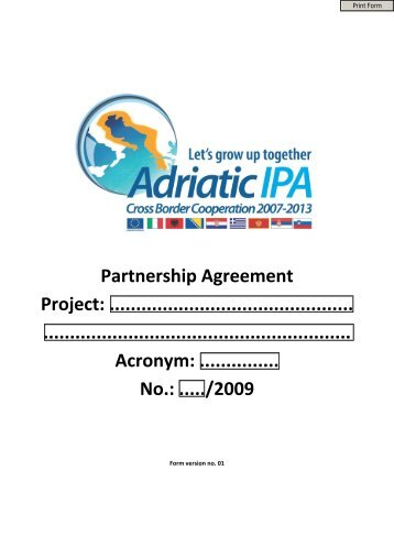 Gms cross border transport agreement partnership agreement project ipa adriatic cross border platinumwayz