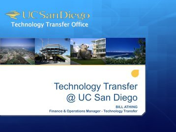 Technology Transfer @ UC San Diego - Academic Affairs - UC San ...