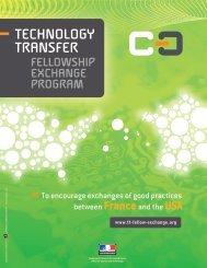 TECHNOLOGY TRANSFER: France-USA Exchange Program