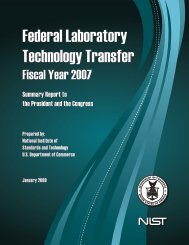 Summary Report on Federal Laboratory Technology Transfer FY
