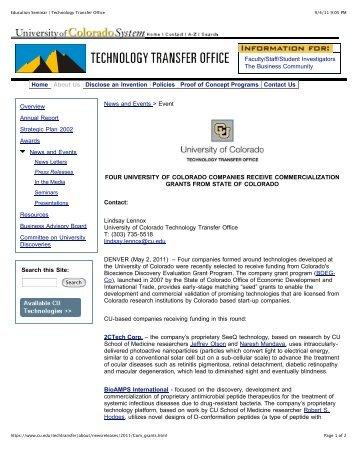 Education Seminar | Technology Transfer Office - University of ...