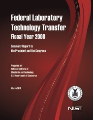 Federal Laboratory Technology Transfer - National Institute of ...