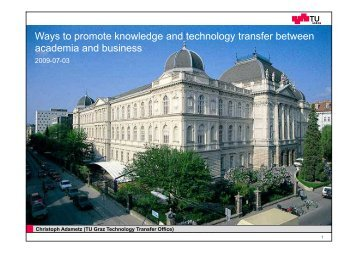 Ways to promote knowledge and technology transfer between ...