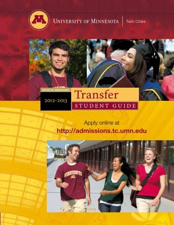 Transfer - Office of Admissions - University of Minnesota