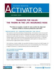 TRANSFER FOR VALUE: THE THORN IN THE ... - CPS Insurance