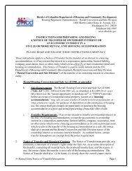 Notice of Transfer, 5 or More Units - Department of Housing and ...