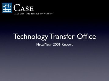 Annual Report-Tech Trans - Research Administration - Case ...