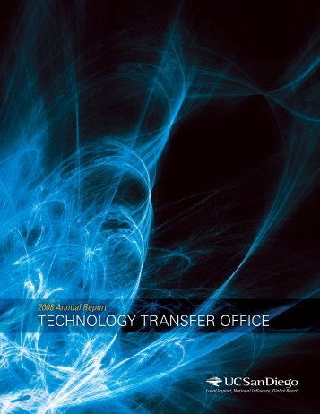 2007–2008 - Technology Transfer Office - UC San Diego
