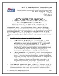 Notice of Transfer, 2-4 Units - Department of Housing and ...