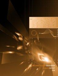2006 Technology Transfer Advisory Committee - University of ...