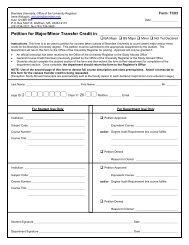 Petition for Major/Minor Transfer Credit in: - Brandeis University