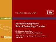 Academic Perspective: Role of Technology Transfer - SITC