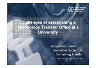 Challenges of establishing a Technology Transfer Office at a ...