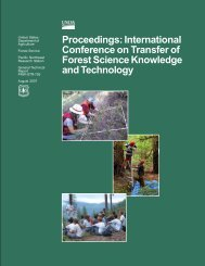 International Conference on Transfer of Forest Science Knowledge ...
