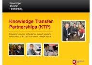 Knowledge Transfer Partnerships (KTP) - Northern Ireland Science ...