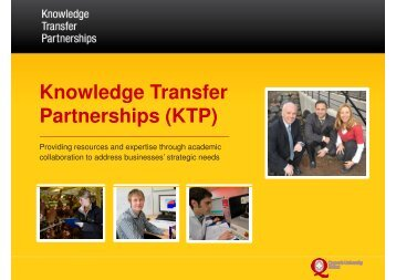 Knowledge Transfer Partnerships (KTP) - Northern Ireland Science ...