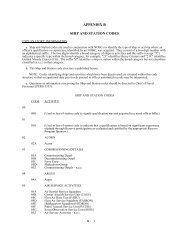 APPENDIX B SHIP AND STATION CODES - US Navy Hosting