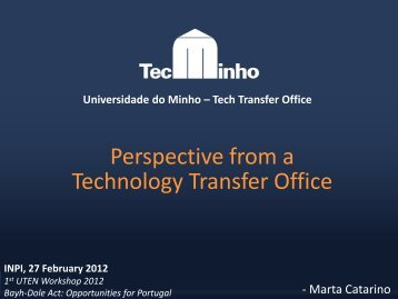 Tech Transfer Office - UTEN
